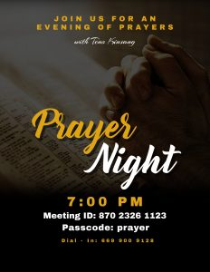 FRIDAY PRAYER NIGHTY